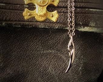 Vampire Jewelry, Fang Pendant, Vampire Fangs, Goth Pendant, Goth Necklace, Fangs, Goth Jewelry, Gothic Necklace, Vampire, Dark Jewelry, Goth
