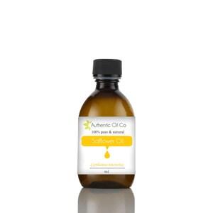 Safflower Organic Oil 10ml 50ml 100ml 250ml 500ml 1 litre