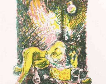 Dinner, lithography