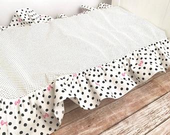 Doll Bed Dust Ruffle, 18 Inch Doll Bed Dust Ruffle