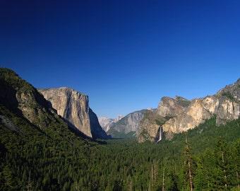 Tunnel View - Blue Bird Evening - Yosemite National Park
