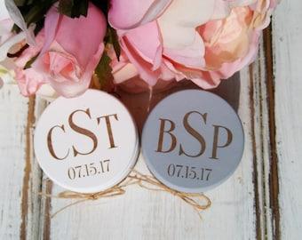 Wedding Ring Boxes, Ring Bearer Box, Monogram, Set of Two, Wooden Ring Box, Wedding Gift, Engraved Wooden Box, Custom Wedding | Lace