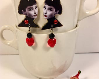 Audrey Hepburn Earrings Breakfast at Tiffanys Holly Go Lightly