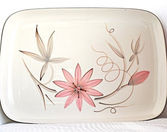 Winfield~ Passion Flower ~Serving Platter~ Large~ MCM~ Floral~fine China~Pink flowers~Feminine~Gift~Housewarming~Wedding~Collectable~Serving
