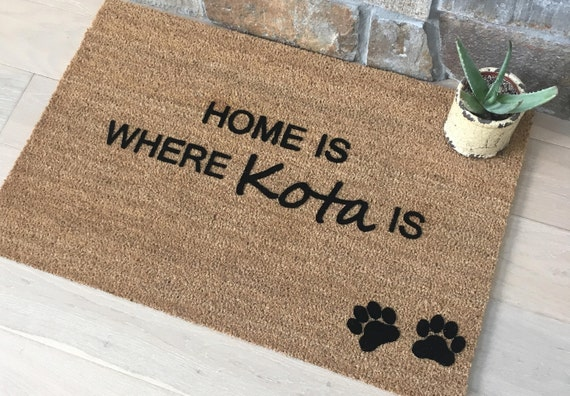 Pet Lover Gifts, Pet Lover, Dog Decor, Dog Decorations, Personalized Door Mat, Welcome Mat, Unique Gift Ideas