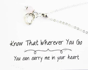 Charm Necklace  - Heart Charm Necklace - Daughter Necklace - Always in My Heart SCC889