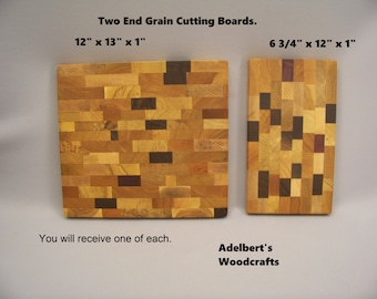 Large and medium cutting boards. Shipped by priority mail 2 to 3 days delivery.
