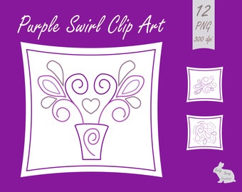 Purple Swirl Doodle Designs Clip Art Clipart Images Card Making Scrapbooking Invitations Card Making Scrapbooking Invitations