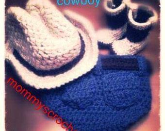 Crochet baby cowboy