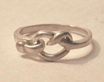 Silver ring, Love Knot Ring, Silver 925 ring, size 6.5,