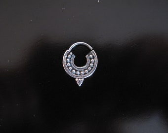 Silver Septum, Silver nose ring, Indian Nose Ring, Tribal Silver sterling Septum, Ethnic tribal silver septum, tribal septum ring