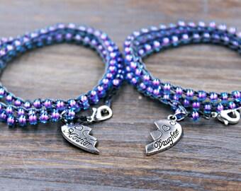 Mother Daughter Bracelet Set - Mom Daughter Jewelry - Mother's Day from Daughter - Mother Daughter Jewelry - Mom from Daughter - Mom Jewelry