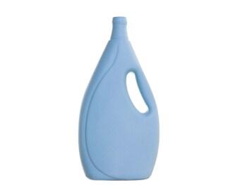 Porsleinen Flesvaas 7 Licht Blauw