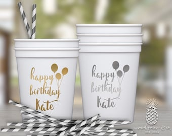 Balloon Birthday | Customizable Party Favor Cups | social graces and Co