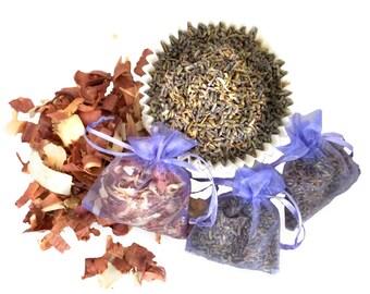 Lavender sachet Yarn Fiber Sachets, Moth repellent, Lavender Cedar, Wedding Favor air freshener Aromatherapy mothball alternative potpourri
