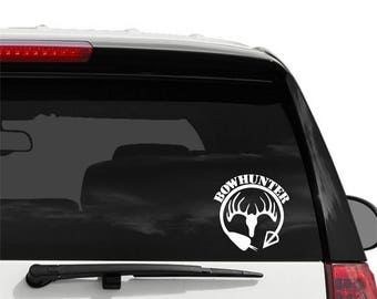 Bowhunter Decal - Vinyl Decal for your Car, Window, Laptop - Window Cling Decal - Vehicle Decal - Vinyl Window Decal -  Bow Hunter