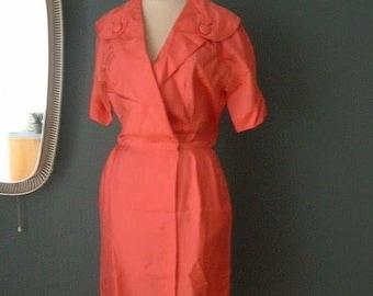 original 1950s silk dress