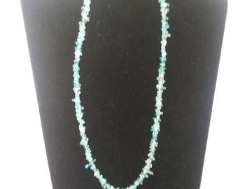 Apatite and Dragon vein agate necklace.