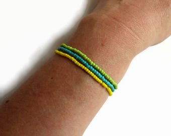 Summer bracelet, stretch bracelet, boho jewelry, gift for mom, dainty bracelet, bohemian bracelet, everyday jewelry, bracelet set, beach