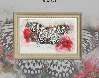 Butterfly 1 PDF chart only for 18 count