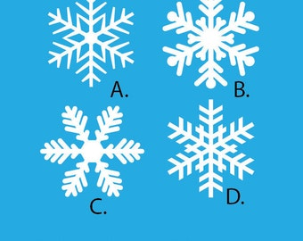 Vinyl Snowflake Decals for the Holidays- Christmas Winter Decorations - For Windows, Door, Wall, Christmas Stickers