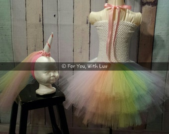 Unicorn Tutu Dress, Unicorn Halloween Costume,  Birthday Party Dress, Unicorn Tutu