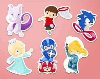 Smash New Characters Stickers