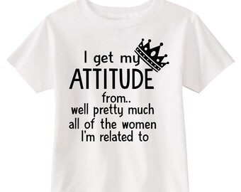 I get my attitude from... toddler shirt,funny toddler shirt,sassy toddler shirt