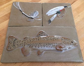 Trout with 2 Fly's