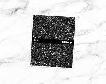 Salt & Pepper 28 Glitter Headers Black Planner Stickers - For use with Erin Condren Vertical Lifeplanner // S24