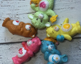Care Bears Collectable Vintage Miniatures - Funshine - Love A Lot - Tenderheart - Gentle Heart