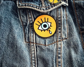 The Eye Patch / Iron On Patch / Embroidered patch / Applique / Party favors