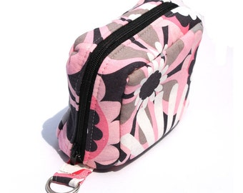 Essential Oil Case Holds 6 Bottles Essential Oil Bag Pink and Gray Large Flowers