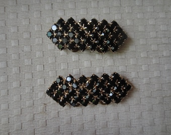 Vintage Musi Rhinestone Shoe Clips 1950s