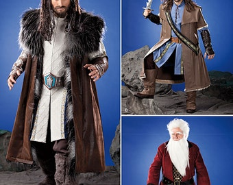 Simplicity 1552 Pattern-Lord of the Rings- The Hobbit Kili Balin Thorin Costume-XS-XL