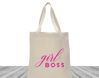 Girl Boss Bags, Tote Bags, Conference Totes, Custom Totes, Girl Boss Tote Bags, Bachelorette Totes, Entrepreneur Tote, Swag Tote Bag, 1498