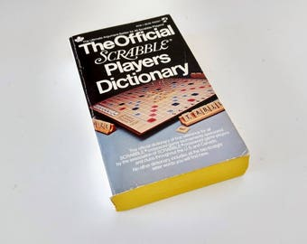 The Official Scrabble Players Dictionary soft cover book, 1978 Selchow and Richter 1st first pocket book printing ultimate argument settler