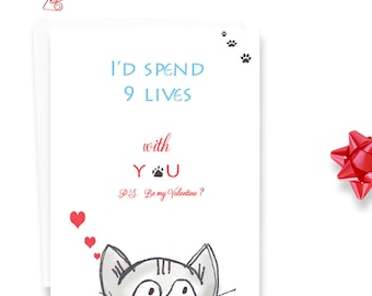 Valentines Day Card - Card for Boyfriend - Valentines day - Card for Friend