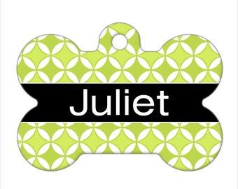 Personalized Pet ID Tag - Juliet Custom Name Dog Bone Pet Tag, Dog Tag