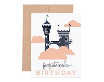 Fairytale Birthday Letterpress Greeting Card - Happy Birthday   Birthday Card   Kid Birthday   Greeting Cards   Letterpress Cards