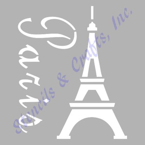 Pochoir De France Tour Eiffel Paris Pochoirs Modle Modles