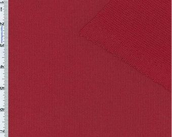 Red Polartec Single Layer Jersey/Texture Grid, Fabric By The Yard