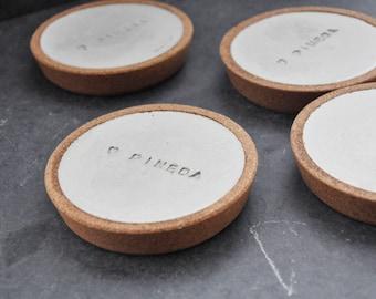 Small Print Custom Concrete Coasters - Concrete Coasters - Custom Gift