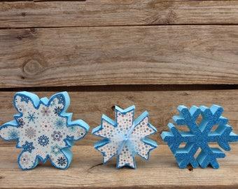 Winter Decor- Snow Decor-Snowflake Decor- Snowflakes set of 3