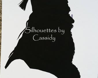 Dumbledore #3 hand cut paper silhouette