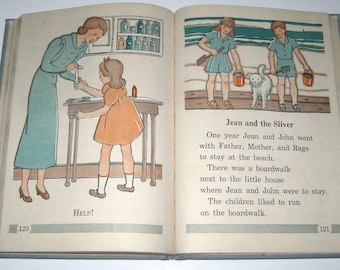 In Storm and Sunshine Vintage 1930s Children's Reader or Textbook by American Book Co