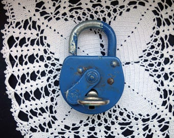 Old padlock with key 1