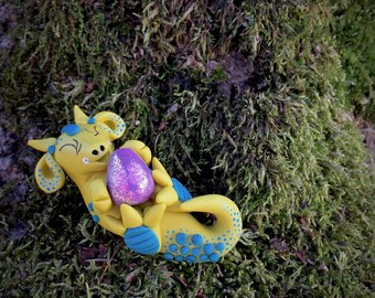 CHRISTMAS Polymer Clay Dragon GUMDROP Series - Limited Edition Christmas Holiday Collectible