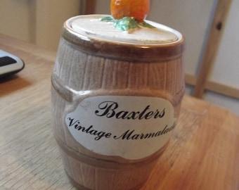 Baxters vintage marmalade pot 1960s