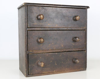 Vintage Cabinet Miniature Chest of Drawers